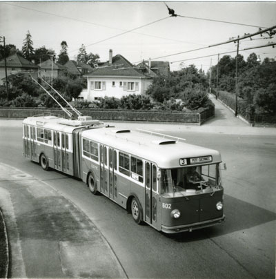 Trolleybus articulé Berna n°602 - Collection SNOTPG