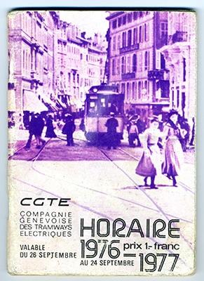 Couverture horaire année 76-77 - Collection SNOTPG
