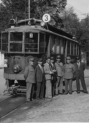 10 septembre 1942, le dernier tram entre Grand-Pré et Petit-Saconnex - Collection SNOTPG