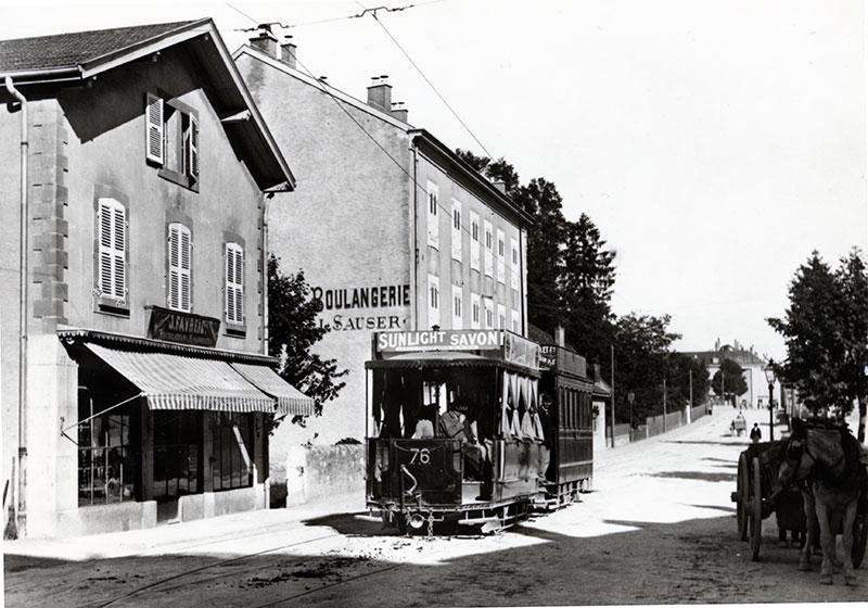 1896 - Tram rue Chêne-Bougerie - Droit réservé