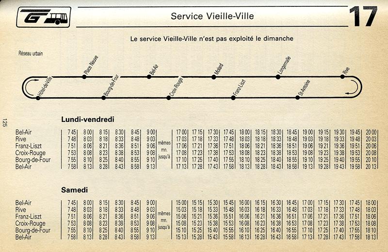 Horaire du 25 septembre 1988 - Collection SNOTPG