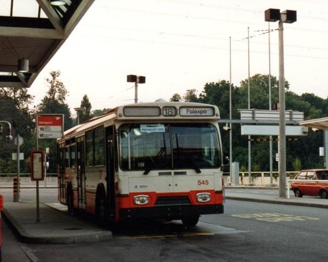 L'autobus FBW 545 à l'Aéroport en juillet 1970. ©Collection Diwabus949