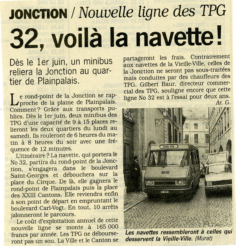 "Article du Journal ""TDG"" - Avril 1992 - Collection SNOTPG"