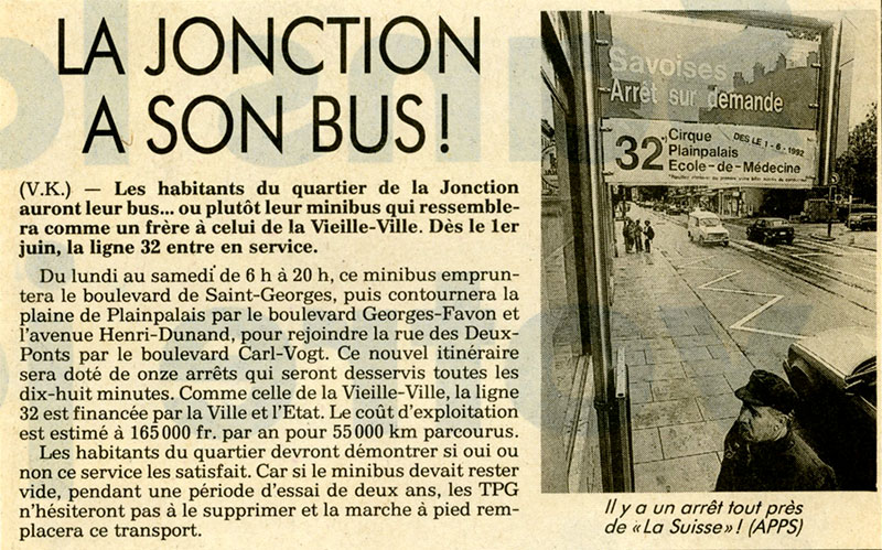 "Article du Journal ""La Suisse"" - 21 mai 1992 - Collection SNOTPG"
