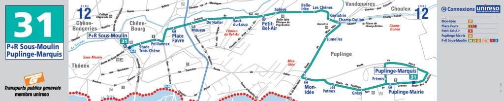 Schéma de la ligne 31 en 2006 - Collection SNOTPG - Clic pour télécharger