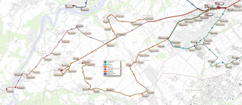Plan lignes - Carte SNOTPG
